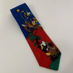 Disney Unlimited Blue Red Mickey Goofy Necktie
